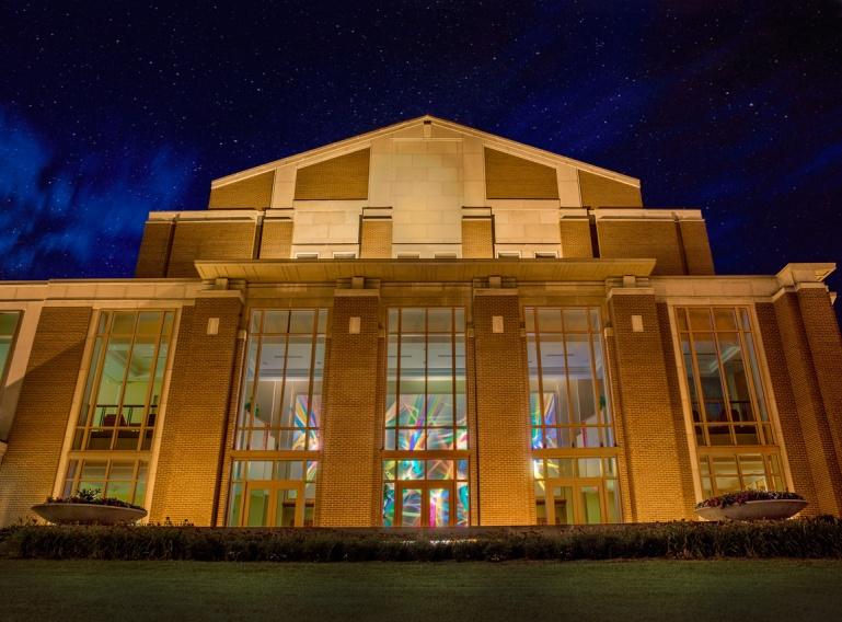 Sursa Performance Hall at night