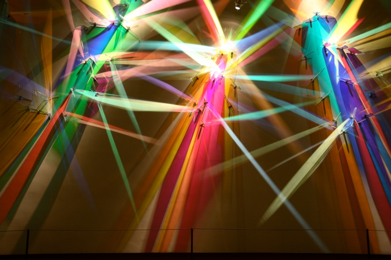 """""""First Symphony"""" a light painting in Sursa Hall lobby by Stephen Knapp"""